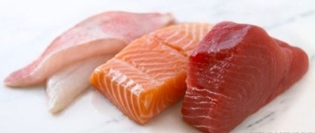 Halibut, Salmon, and Tuna fresh fish